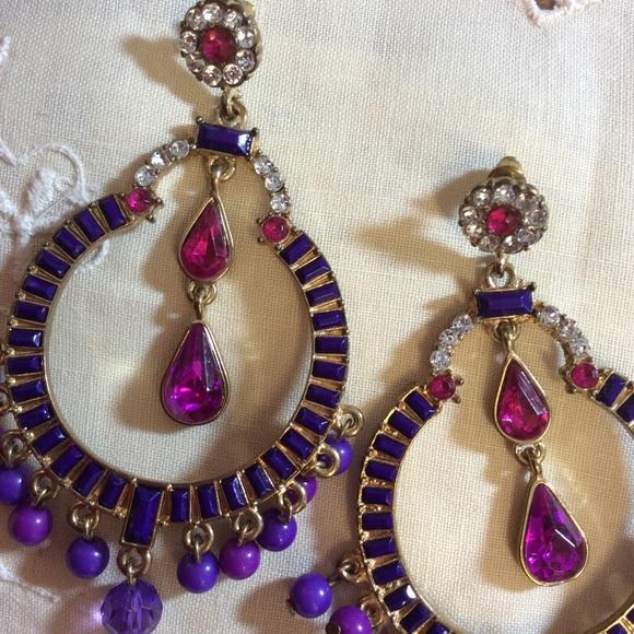bebe Jewelry - Huge Jingle Gypsy India Beaded Jeweled Earrings